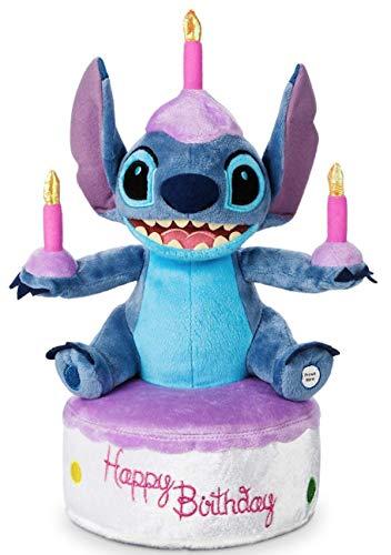 (Disney Parks Stitch Birthday Cake Plush - Light-Up)