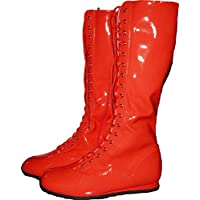 MyPartyShirt Red Adult Wrestling Boots-Adult XL