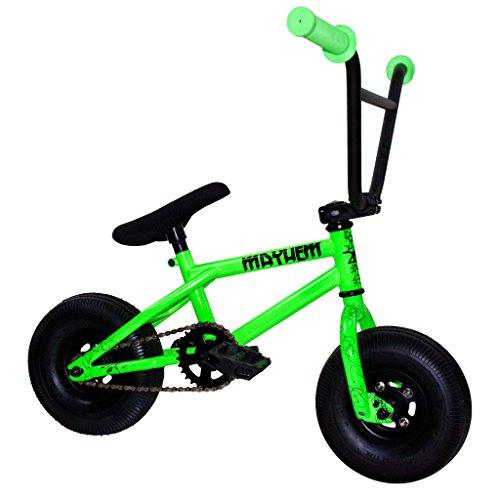 Mayhem Riot Neon Fat Tire Mini BMX Crank 2015 Newest Model Trick Bike, Green