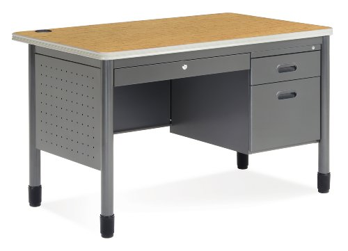(OFM Mesa Series Teachers Desk with Laminate Top - Durable Locking Utility Desk, 30