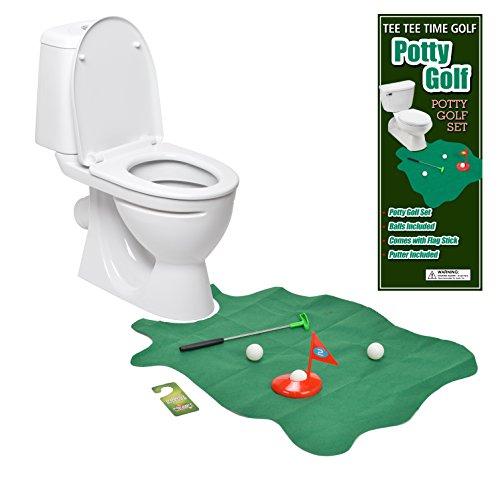 Toilet Golf Joke Amp Novelty Set Play Golf On The Toilet