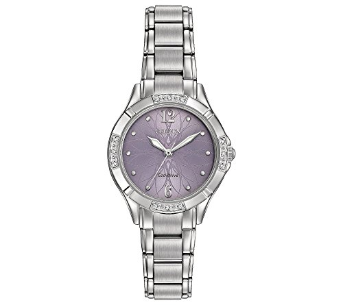 Citizen Women's Eco-Drive Silvertone Watch With Diamond Accents