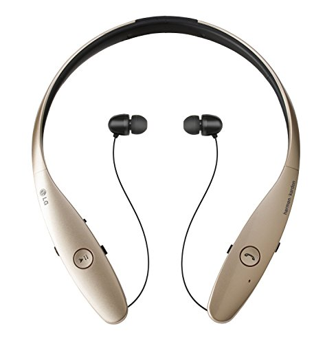 LG Electronics Tone Infinim HBS-900 Bluetooth Wireless Stereo Headset- Retail Packaging - - Bluetooth Headset Gold