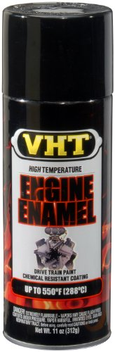 VHT ESP124007 Engine Enamel Gloss Black Can - 11 oz.