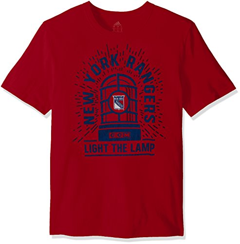 Reebok NHL New York Rangers Adult Men Light The Lamp S/Brushed Tee,X-Large,Red ()