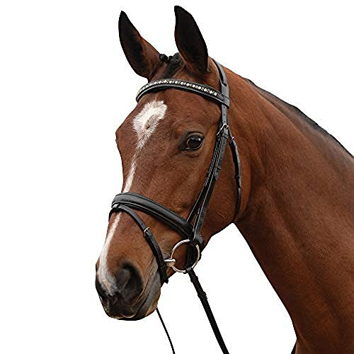 - Kincade Leather Padded Crystal Crank Flash Bridle (Full) (Brown)