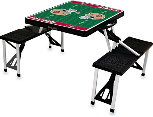 NFL San Francisco 49ers Football Field Design Portable Folding Table/Seats, Black