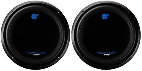 Planet Audio 15-Inch 2100W Car Audio Power Subwoofer DVC 4 Ohm, 2-Pack | AC15D