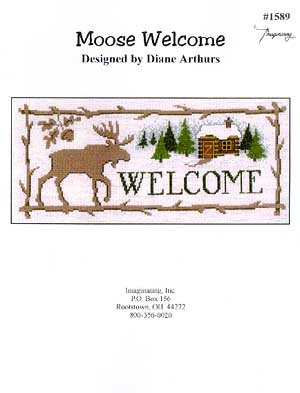 Welcome Cross Stitch Chart (Moose Welcome Cross Stitch Chart)