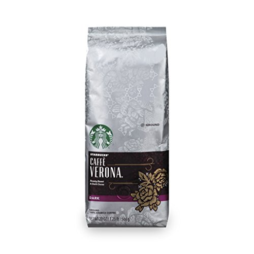 Starbucks Caffè Verona Dark Roast Coffee, Ground, 20-ounce bag