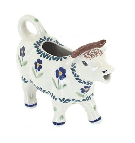 Blue Rose Polish Pottery Blue Daisy Cow Creamer (Daisy Creamer)