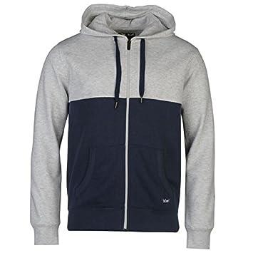 06e5e89350 Lee Cooper Cut   Sew Zip Hoody Mens Ash Blue Hoodie Sweatshirt Jacket XSmall