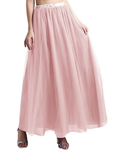 Bridesmay Women S Long Tulle Skirt Maxi Prom Evening Gown