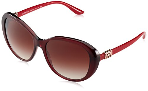 Versace Women's VE4324B Opal Bordeaux/Brown Gradient - Sunglasses All Versace