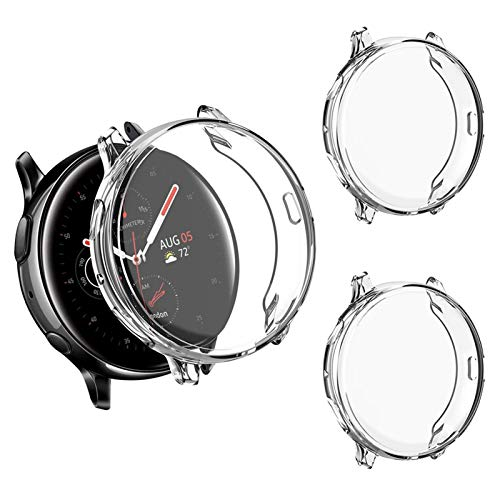 Voakod Compatible with Samsung Galaxy Watch Active 2 Case Cover 44mm, Scratch-Resistant Soft Flexible TPU Plated Protective Case Protector Shell for Samsung Galaxy Watch Active 2