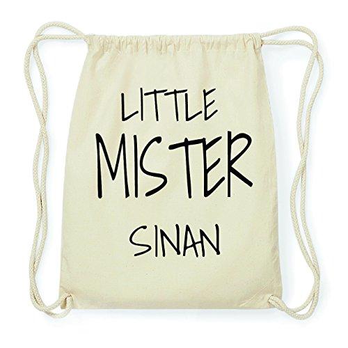 JOllify SINAN Hipster Turnbeutel Tasche Rucksack aus Baumwolle - Farbe: natur Design: Little Mister BaoxXo