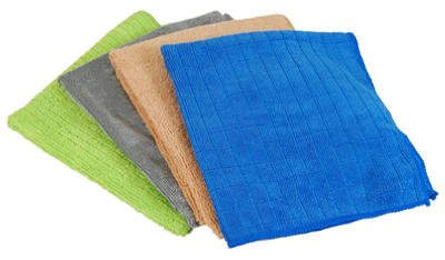 Quickie Microfiber Cleaning Cloths 16 '' X 14 '' Glass And Window 4 / Pack