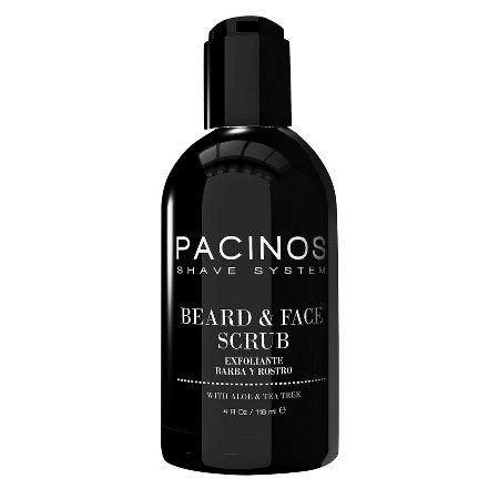 Pacinos Shave System Aloe & Tea Tree Beard & Face Scrub 4 oz