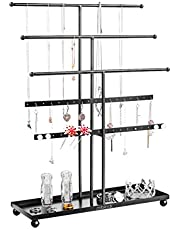 TOPBATHY 1PC Iron Stable Bracelet Holder Jewelry Stand Necklace Organizer Earrings Storage Rack for Shopwindow Dressing Room Office