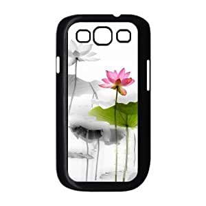 Custom Cover Case with Hard Shell Protection for Samsung Galaxy S3 I9300 case with Beautiful flowers lxa#876193 WANGJING JINDA