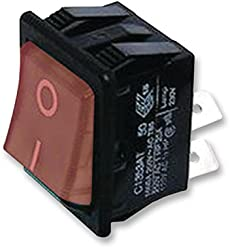 ARCOLECTRIC  C1353VQ0//1RED  Rocker Switch,Illuminated,DPST,Off-On,Red,PACK of 5
