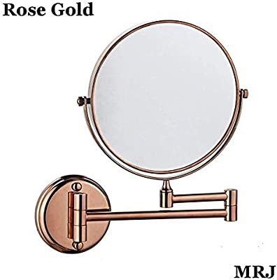 Bathroom Mirror Wall Mounted Makeup Mirror 8 Inch Two Sided Swivel Wall Mounted Mirror Extending Folding Bathroom Shaving Cosmetic Make Up Mirror 5x Magnification Amazon Com Llhdcc