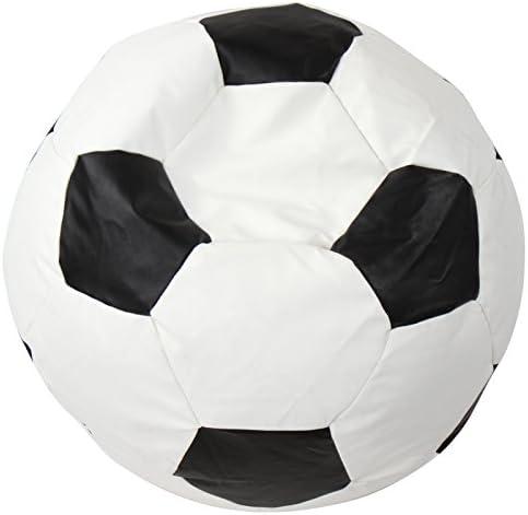 Miadomodo Jago - Sillón Puff en Forma de Pelota de fútbol de tamaño 100 cm: Amazon.es: Hogar