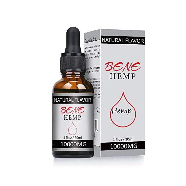 BeneHemp Hemp Oil, High Strength Hemp Seed Oil, 10000MG (30ML)