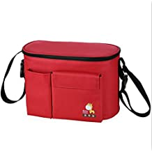 Multi-function Baby Stroller Bag for Diapers Changing Nappy Bags For Mom Big Capacity Stroller Mummy Bag Shoulder For Nappy (Red)