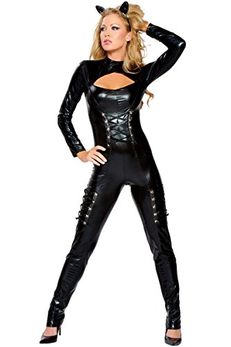 [Queen of Felines Adult Costume - Medium/Large] (Sexy Haloween Costumes)