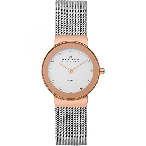 Fossil White Gold Bracelets (Skagen 358SRSC Ladies Watch)