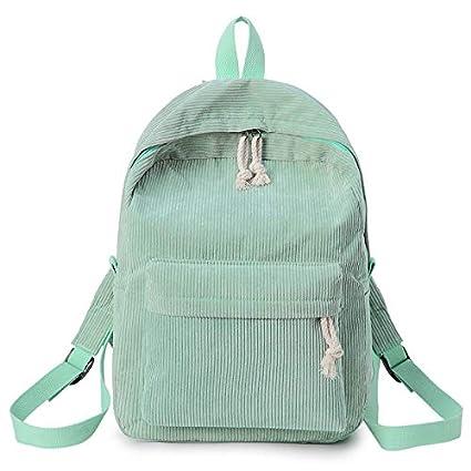 Wpackbag Classic Simple Color Sólido Mochila Versión Coreana De La Tendencia De La Escuela Viento Bolsa