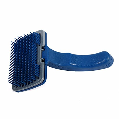 Hair Removal Massaging Comb Automatic Pet Dog Pet Cat Brush Grooming Trimmer Tool Pet Comb 19x12x10cm Plastic Blue