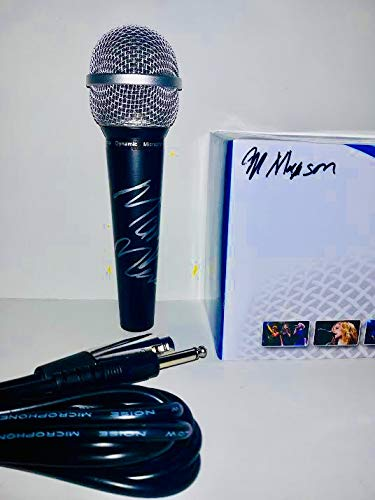 Marilyn Manson Autographed Microphone