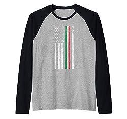 Italian American Pride American Flag Tricolore Design Raglan Baseball Tee