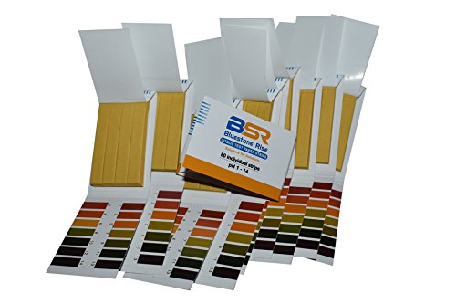 Bluestone Rise. pH Test Strips. Litmus Indicator Test Paper Universal Acid Base. Full Range.1-14 Independently Tested for Colour Matching Accuracy. 10 Pack 800 Strips