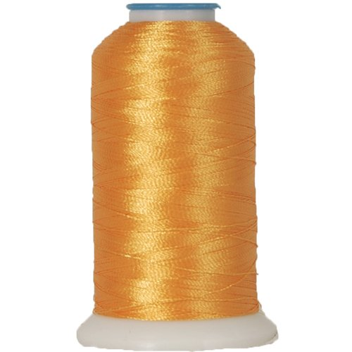 Polyester Embroidery Thread No. 125 - Spark Gold - 1000M Rayon Mini King Spools