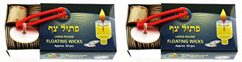 Large Floating Replacement Candle Wicks