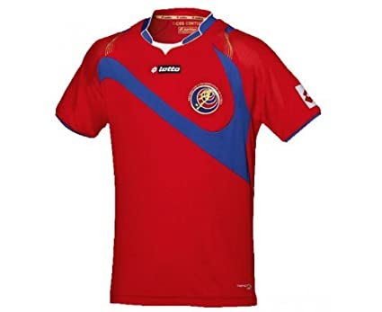 Costa Rica 14/15 S/S Home Football Shirt Red/Blue - size L: Amazon