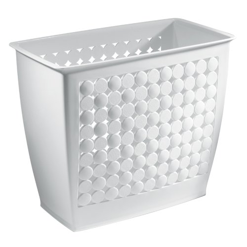 InterDesign Orbz Wastebasket Trash Can for Bathroom, Office, Kitchen - White (Small Trash Can White compare prices)