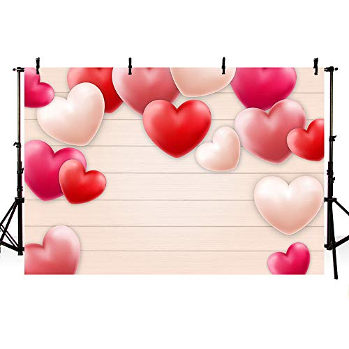 Valentine's Day Pink Heart Balloon Backdrop