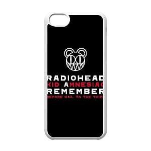 Personalizado Durable casos iPhone 5C teléfono celular caso blanco Radiohead Zrwdev protección Cover