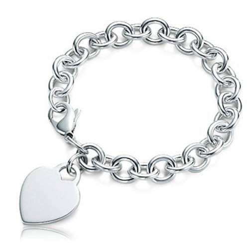 Sterling Silver Tiffany Style Engravable Bracelet - Sterling Silver - 8 Inch