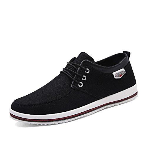 Destjoy Boots Plus Size 39-47 Men's Flats Men Shoes Big Size Handmade Moccasins Shoes for Male Black -