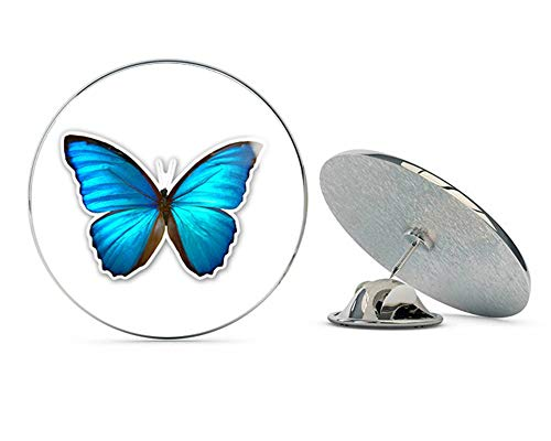 - Blue Morpho Butterfly Beautiful Round Metal 0.75