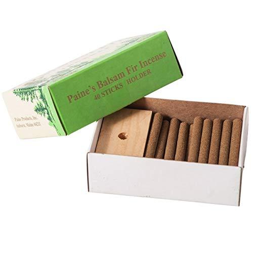 40 Balsam Sticks and Holder - Paine's Fir Balsam Incense - Pine Incense