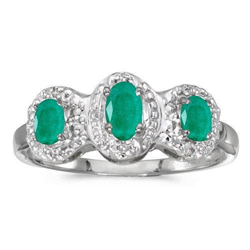 Diamond & Emerald Antique Ring - 5