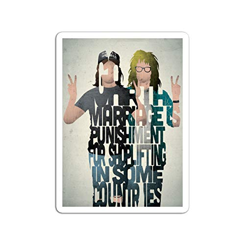 BreathNenStore Sticker Motion Picture Wayne and Garth Wayne's World Movies Video Film (3
