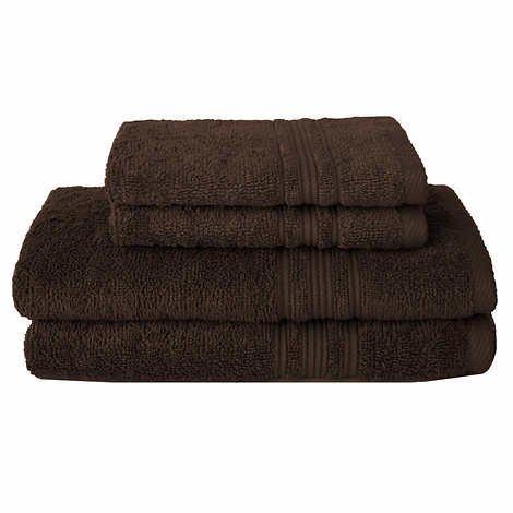 カリスマ綿100 % Hygro 4-pc。バスタオルset-brown B01M3QUR64