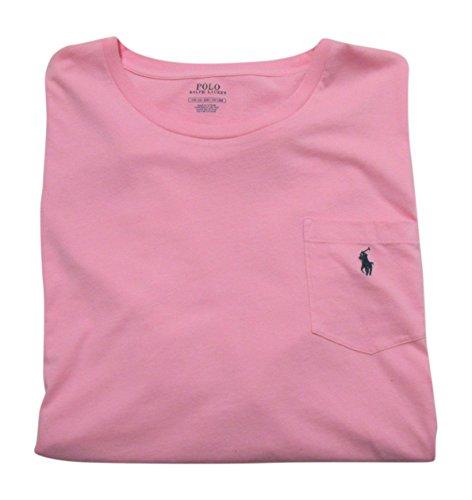 Polo Ralph Lauren Mens' Big and Tall T-Shirt Jersey Crew Neck Pocket T-Shirt (4XB, Pink)